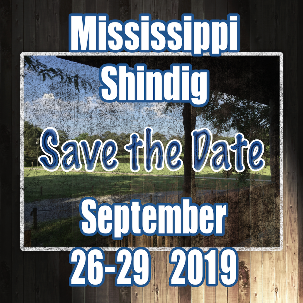 Mississippi Shindig Save the Date September 26-29